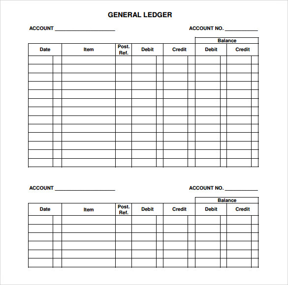 General Ledger Template   9  Download Free Documents In PDF Word b8x6Jf8l