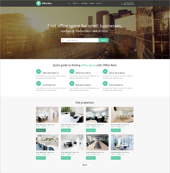 23  Real Estate Website Themes   Templates Sample Templates HLBwTWOB