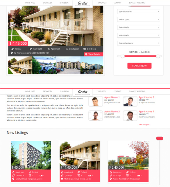 23  Real Estate Website Themes   Templates Sample Templates papwQI2G
