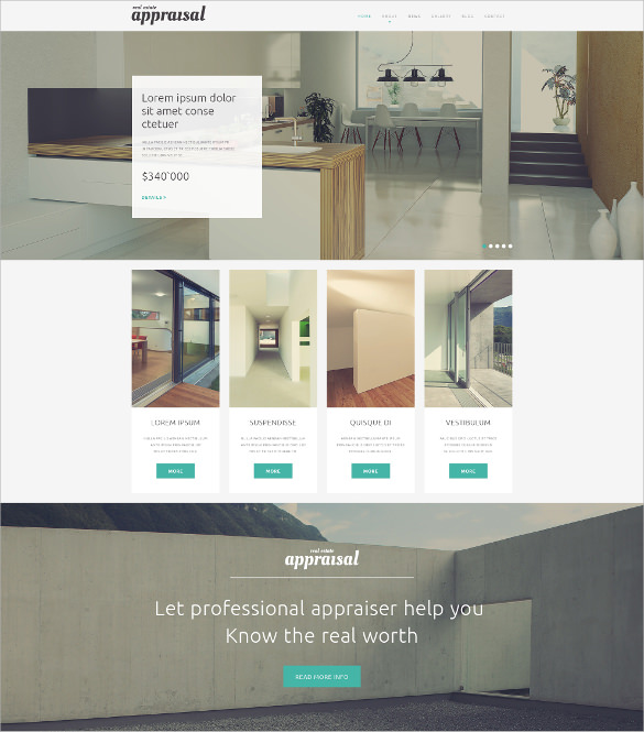 23  Real Estate Website Themes   Templates Sample Templates XiePWhmn