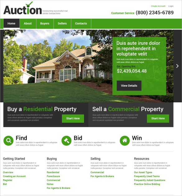 22   Realtor Website Themes   Templates Sample Templates Reg2FMAy