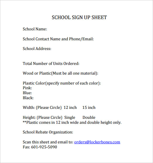 Beautiful Sample School Sign In Sheet Photos - Best Resume