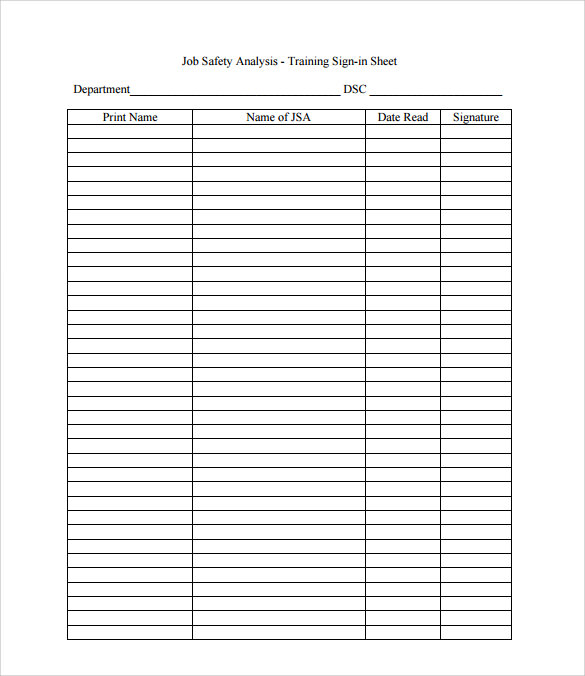 Sample Sign In Sheet  BesikEightyCo