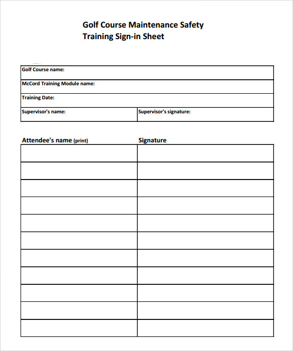Free Sign In Sheet  Free Sample Parent Sign In Sheet Templates