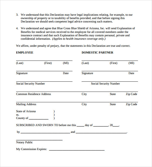13 Domestic Partnership Agreements To Download Sample Templates