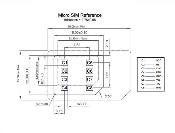 micro sim template example