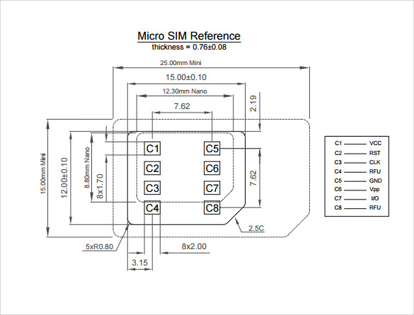 Micro Sim Template | Sample Micro Sim Template 9 Free Documents In Pdf Word