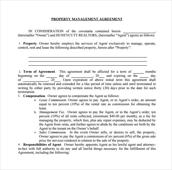 Sample Management Agreement   Free Documents In Pdf  Word
