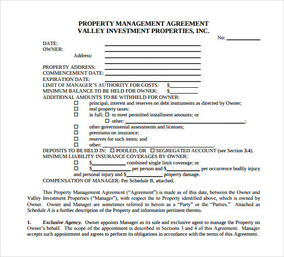 Sample Management Agreement 11 Free Documents in PDF Word – Management Agreement