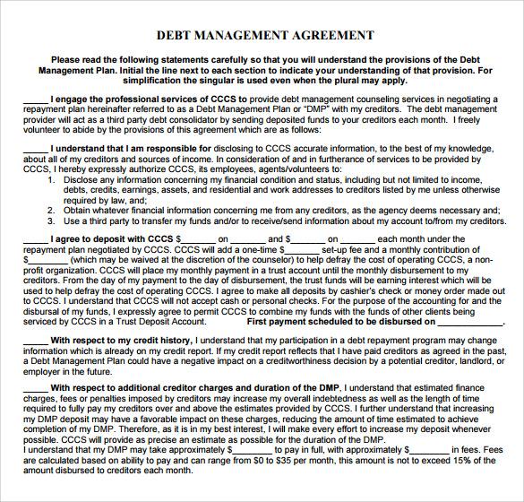 debt management agreement