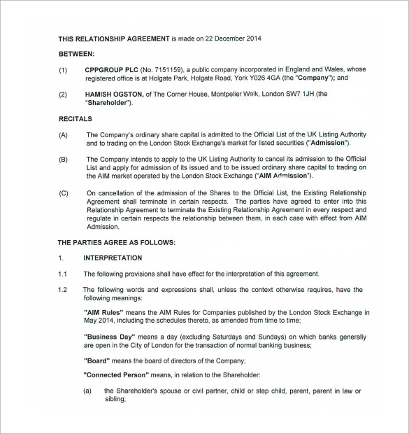 Work Experience Agreement Template
