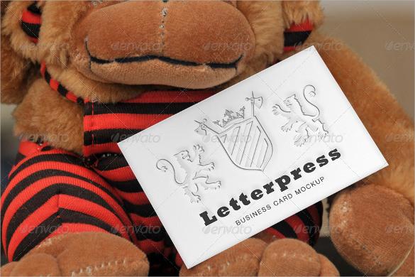 photoshop psd letterpress business card