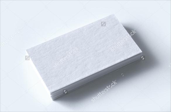 blank letterpress business card