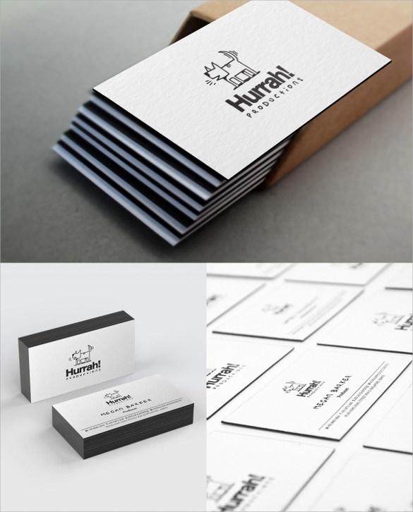 letterpress black edge business card