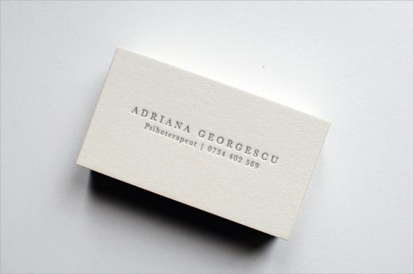 custom letterpress business card