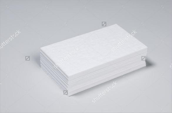 stuck blank letterpress business cards