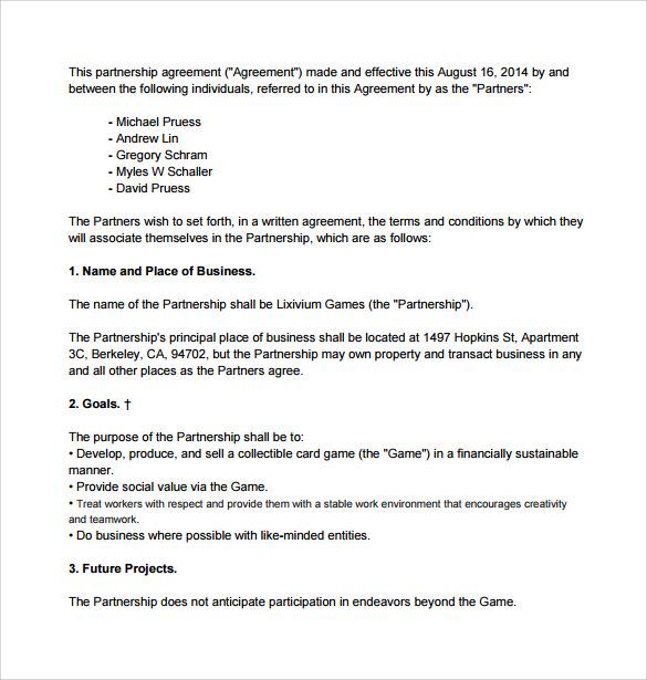 12 sample general partnership agreement templates sample templates general partnership agreement template spiritdancerdesigns Image collections