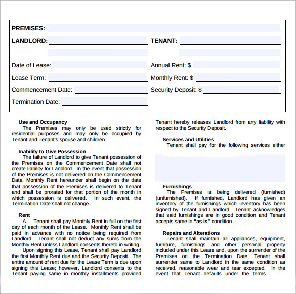 simple home lease agreement1