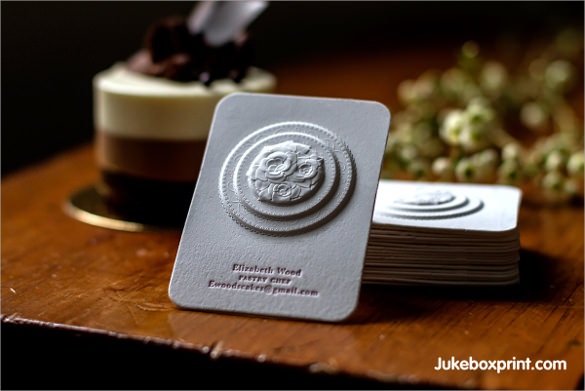 3d business cards with letterpress