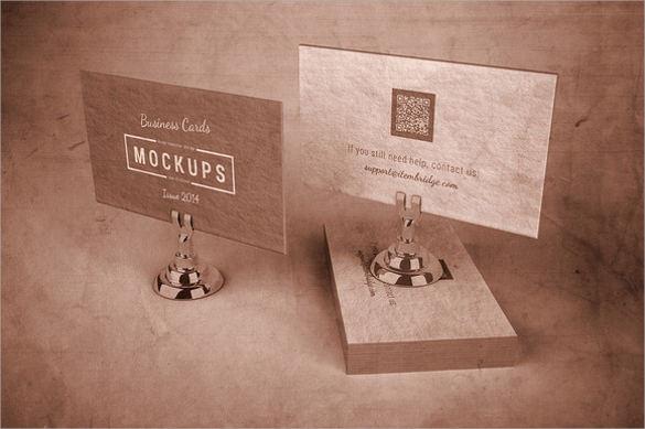 download letterpress business card