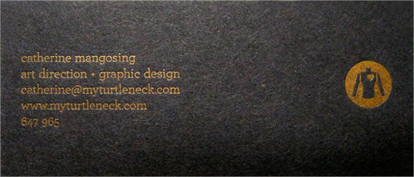 awesome letterpress business card