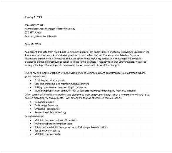 Sample Executive Assistant Cover Letter   Download Free