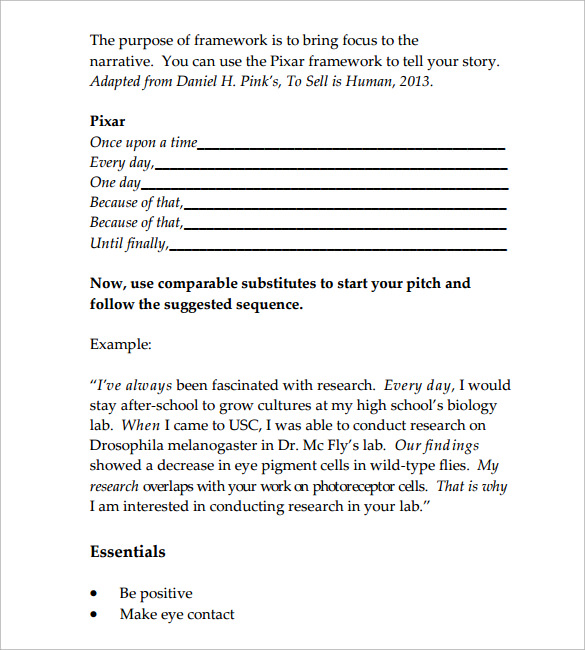 Sample Elevator Pitch Template 11 Free Documents in PDF Word – Elevator Pitch Example