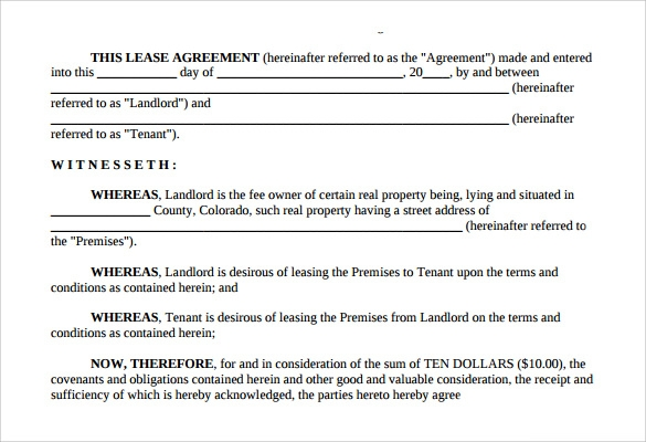 home lease agreement download