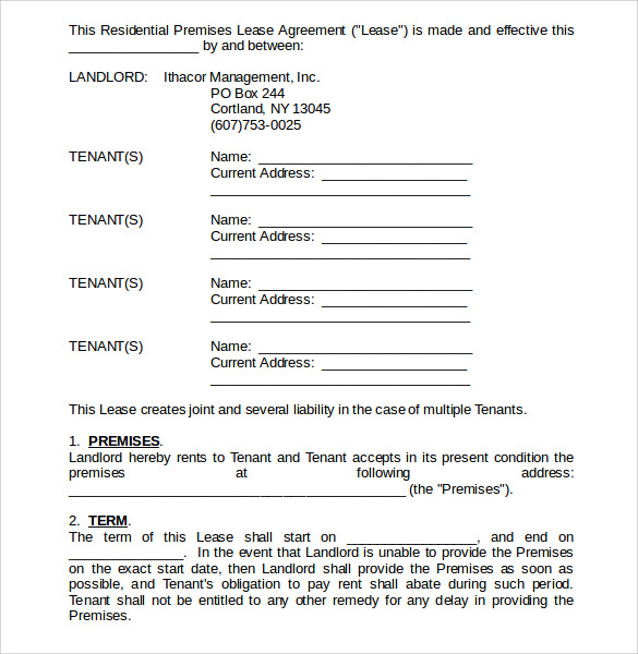 download home lease agreement