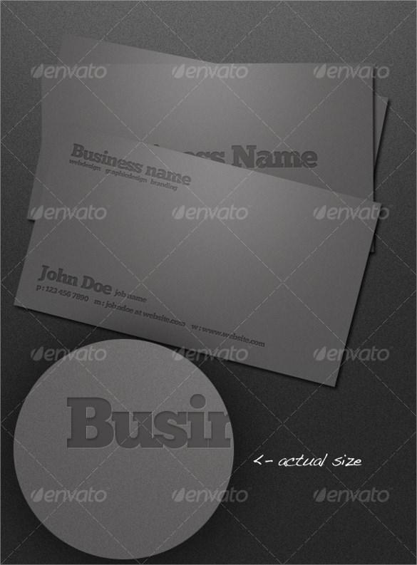 psd letterpress business card template