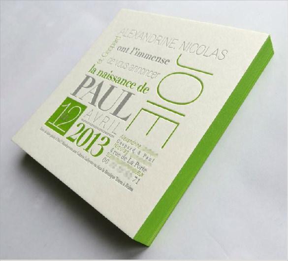 personalized letterpress business card