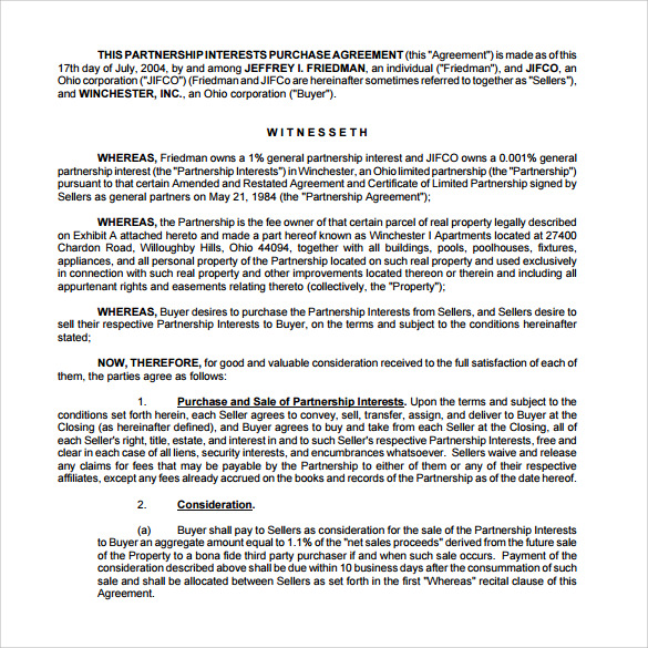 Real Estate Partnership Agreement Templates To Download Sample - Real estate operating agreement template