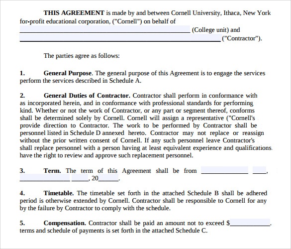 professional services agreement pdf