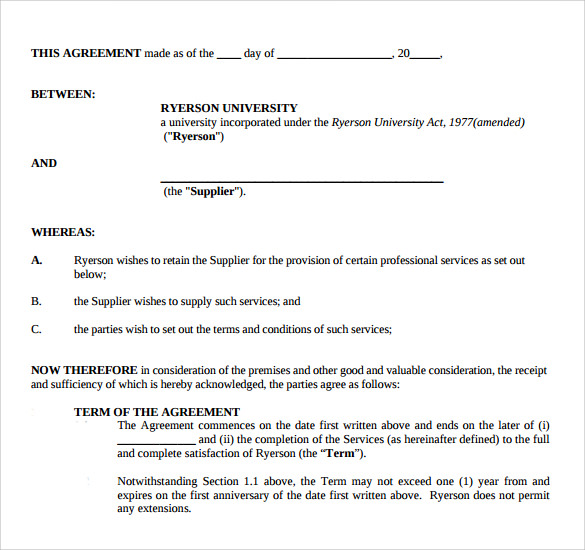 12 Professional Services Agreement Templates To Download