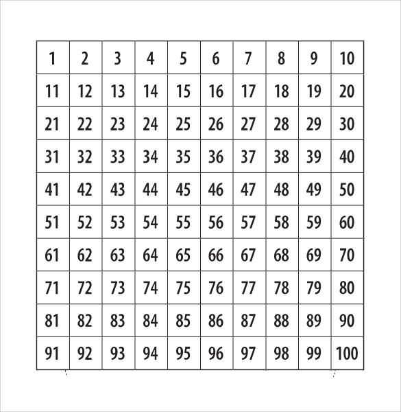 picture regarding Printable Number Templates known as Pattern Range - 9+ Files inside PDF, Term