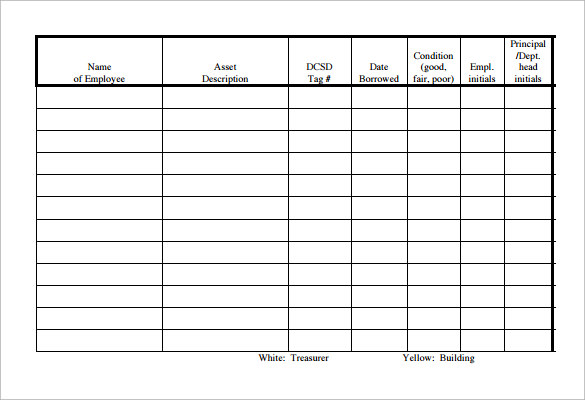 Sample Equipment Sign Out Sheet - 10+ Documents In Pdf ,Word, Excel