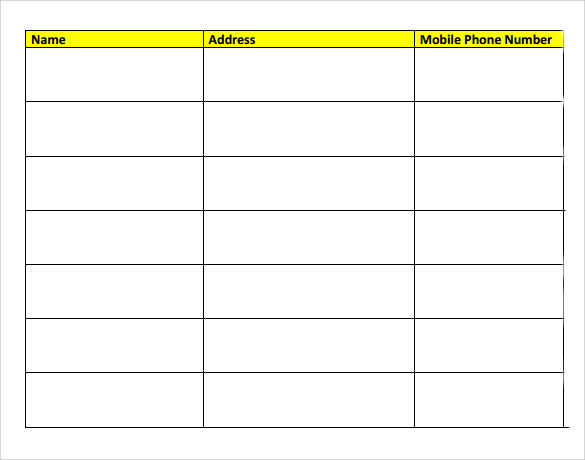 Sample Meeting Sign In Sheet    Documents In Pdf Word