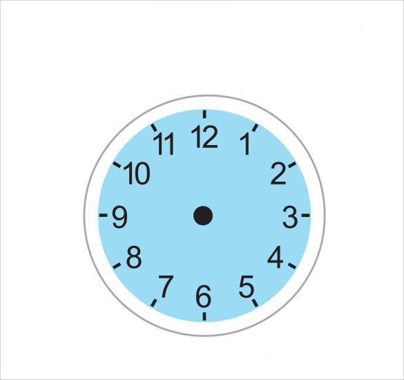 Sample Clock Face   Documents In Pdf Word