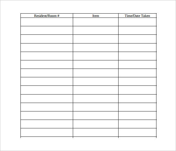 Sample Equipment Sign Out Sheet   Documents In Pdf Word Excel
