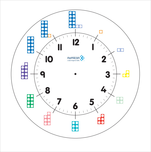 clock face template standard