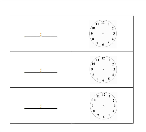 simple clock face template%ef%bb%bf