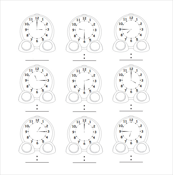 clock face template example%ef%bb%bf