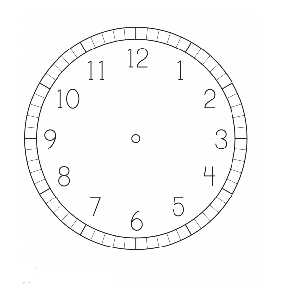clock face template sample