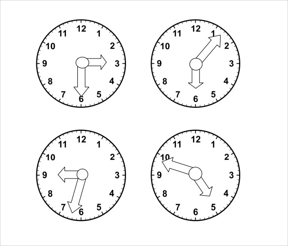 clock face template download