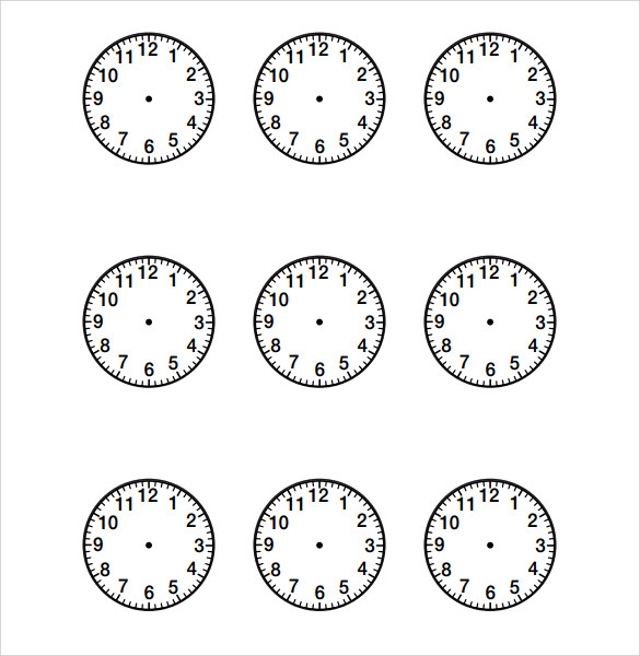 sample clock face template
