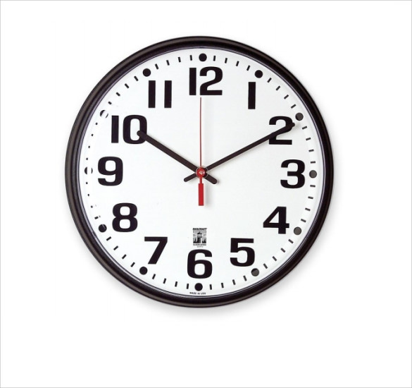 download clock face template