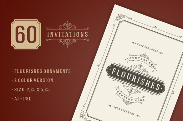 vintage invitation design