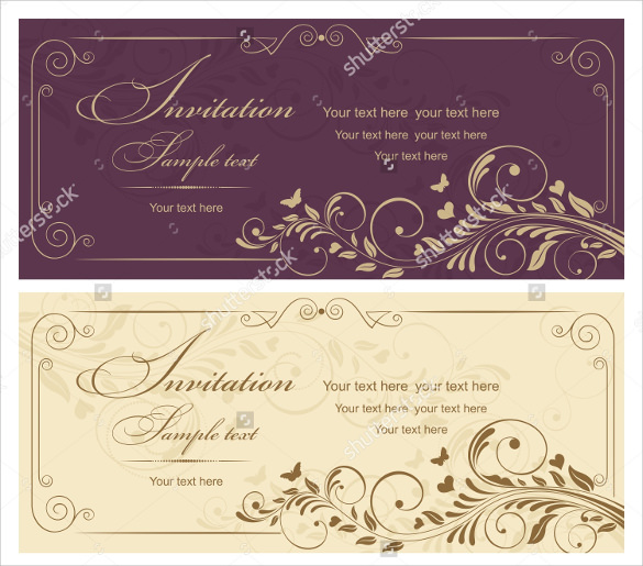 old style invitation design