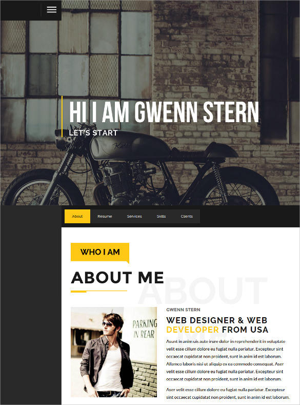 Download image Personal Portfolio Website Template PC Android iPhone OdZx4pi4