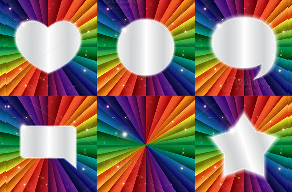 10 rainbow templates to download